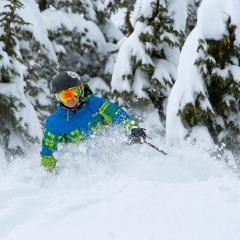 Never too young to ski the deep